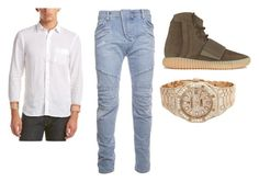 """""""Trill"""" by aintdatjulian on Polyvore featuring Pierre Balmain, adidas, Burberry, Audemars Piguet, men's fashion and menswear"""
