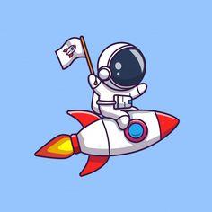 Rocket Cartoon, Astronaut Cartoon, Astronaut Drawing, Astronaut Illustration, Star Illustration, Graphic Design Illustration, Moon Cartoon, Time Cartoon, Cartoon Ships