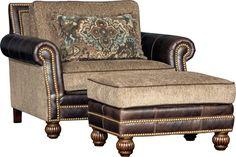 Mayo 431 Chair & Ottoman - Sumter Stone