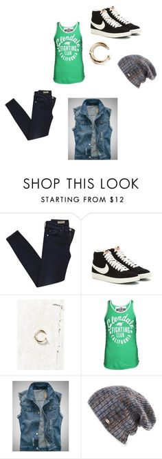 """""""Vic"""" by laurenn-08 ❤ liked on Polyvore featuring AG Adriano Goldschmied, NIKE and Spacecraft"""