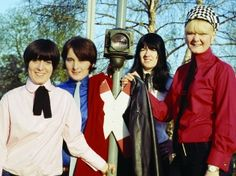 Manning up: (left to right) Sylvia Saunders, Mary McGlory, Valerie Gell and Pamela Birch of the Liverbirds in Hamburg, about 1965