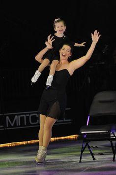 Nancy Kerrigan and daughter during 2012 Musselman's Apple Sauce Family Skating Tribute. (C) Brittany Evans
