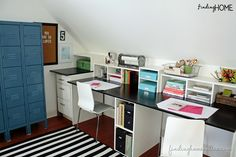DIY Idea: Maximize space with a built-in desk. Click through for the full tutorial from Laura at Finding Home! || @findinghome