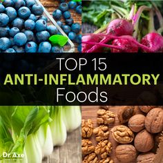 Top Anti=Inflammatory Foods: Swiss Chard, celery, celery seeds, Beets, Broccoli, Blueberries, Pineapple, Salmon, Bone Broth, Coconut Oil, Chia Seeds, Walnuts, Flax Seeds, Tumeric, Ginger,Green Leafy Veg, gm