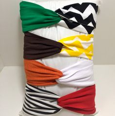 CUSTOM   GAME DAY Turban Twist Headband   Choose your own colors/patterns by howdygirldesigns on Etsy  https://www.etsy.com/listing/202106027/custom-game-day-o-turban-twist-headband?ref=shop_home_active_7