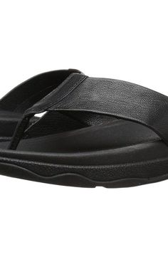 FitFlop Surfer Leather (Black) Men's Sandals - FitFlop, Surfer Leather, 486-001, Footwear Open Casual Sandal, Casual Sandal, Open Footwear, Footwear, Shoes, Gift - Outfit Ideas And Street Style 2017
