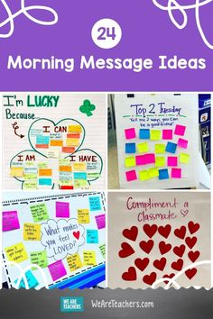 Kick off the day right! Here are some of our favorite morning message ideas that teachers are using to connect with their students. Check them out! Morning Meeting Activities, Morning Meetings, 4th Grade Ela, Grade 1, Third Grade, Classroom Calendar, Classroom Ideas, Classroom Tools, Classroom Resources