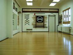 The iaido dojo located in the harp karate building 80 Rockwell place rochesterny Karate Dojo, Karate Karate, Karate Girl, Karate Video, Karate Belt Display, Karate Moves, Karate Birthday, Hall Design, Aikido