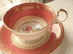 vintage English tea cup and saucer set 1930's by ShoponSherman,