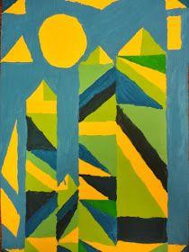 Thomas Elementary Art: 4th Grade Paul Klee Analogous Abstracts