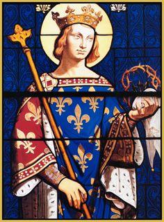 King Saint Louis IX of France (Catholic Caucus) Catholic Art, Catholic Saints, Religious Art, St Louis, Medieval, Luis Ix, French Royalty, Ludwig, Anglo Saxon