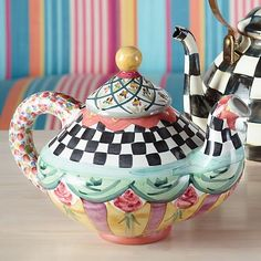 Taylor Teapot - Odd Fellows | MacKenzie-Childs
