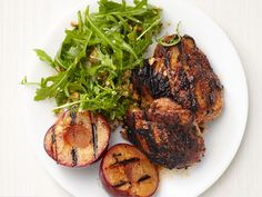 Grilled Hoisin Chicken and Plums recipe from Food Network Kitchen via Food Network