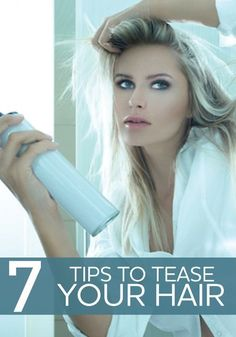 How To Tease Your Hair: Tips from Nathaniel Hawkins Looking for more volume in your hair? Check out these tips to tease your hair.Looking for more volume in your hair? Check out these tips to tease your hair. Good Hair Day, Great Hair, My Hairstyle, Pretty Hairstyles, Teased Hairstyles, Big Hair, Your Hair, Diy Big 80s Hair, Short Hair
