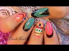 Nail Art Design Tutorial Tribal Style - http://www.nailtech6.com/nail-art-design-tutorial-tribal-style/