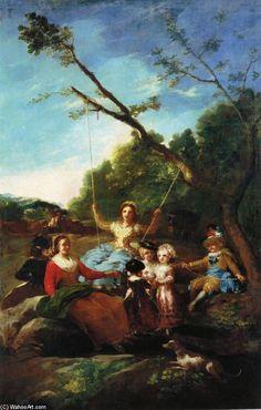 Francisco Goya (Spanish [Romanticism] The Swing, Museo del Prado, Madrid. Francisco Goya, Spanish Painters, Spanish Artists, Rembrandt, Goya Paintings, National Art Museum, Art Database, Art Pictures, Portraits
