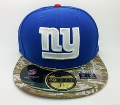 NEW YORK GIANTS SALUTE NFL NEW ERA 59 FIFTY FITTED HAT/CAP (SIZE 7 1/2) -- NEW #NEWERA59FIFTY #NewYorkGiants