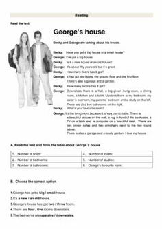 Reading test Language: English Level/group: grade 5 School subject: English as a Second Language (ESL) Main content: The house Other contents: furniture, there to be, prepositions of place English Worksheets For Kindergarten, English Worksheets For Kids, 1st Grade Worksheets, English Grammar For Kids, Teaching English Grammar, Reading Test, Kids Reading, Reading Comprehension For Kids, School Subjects