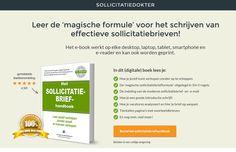 Het Sollicitatiebrief Handboek. Leer de 'magische formule' voor het schrijven van effectieve sollicitatiebrieven!