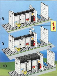Thousands of complete step-by-step printable older LEGO® instructions for free. Here you can find step by step instructions for most LEGO® sets. Lego Super Mario, Super Mario Bros, Instructions Lego, Lego Furniture, Minecraft Furniture, Lego Basic, Modele Lego, Lego Minecraft, Minecraft Skins