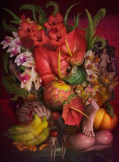 """from David LaChapelle's """"Earth Laughs in Flowers"""" series"""