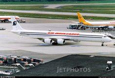 An Air India Cargo in Zurich, 1997 - by John Richard Cargo Aircraft, Air India, Cargo Airlines, Zurich, Vintage, Vintage Comics