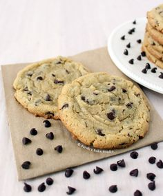 BEST Chocolate Chip Cookies for Two – deliciously soft and chewy chocolate chip cookies made in a petite batch perfect for two. So good they're the BEST. #chocolatechipcookies #recipesfortwo #cookies #chocolatechips #cookiesfortwo