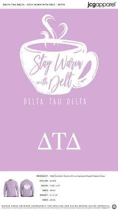 Delta Tau Delta Stay Warm Shirt | Fraternity Stay Warm Shirt | Greek Stay Warm Shirt #deltataudelta #dtd #Stay #Warm #Shirt #tea