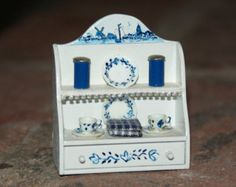 Dollhouse miniatures Cabinet with by cosediunaltromondo on Etsy