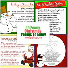 10 Funny Christmas Poems To Enjoy Holiday Poems, Funny Christmas Poems, Christmas Humor, Christmas Crafts, All Things Christmas, Before Christmas, Christmas Essay, Funny Baby Quotes, Family Quotes
