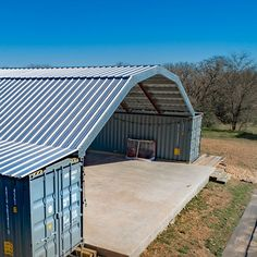 Shipping Container Workshop, Shipping Container Buildings, Shipping Container Home Designs, Shipping Container House Plans, Building A Container Home, Container Cabin, Container House Design, Metal Shop Building, Gambrel Roof