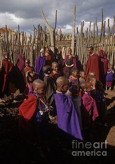 Massai Tribe - Tanzania   Photo by Craig Lovell with Pin-It-Button on FineArtAmerica