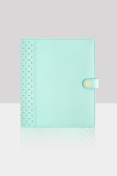 Share the kikki.K Planner Lover with this gorgeous Mint Perforated Leather Planner