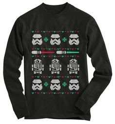 Star Wars Ugly Christmas Sweater Xmas Long by TotallyFabPrints Star Wars Christmas Sweater, Ugly Holiday Sweater, Ugly Sweater Party, Christmas Shirts, Christmas Sweaters, Christmas Outfits, Christmas Ideas, Tacky Christmas, Christmas Town