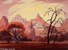 Landscape, Namibia was sold by Stephan Welz & Co. & Sotheby's, Johannesburg, on Monday, May Klee South Africa Art, South African Artists, Landscape Paintings, Art Nouveau, Art Projects, Digital Art, Painting Trees, Artwork, Prints