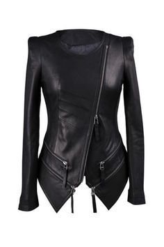 I love the style of this leather jacket!