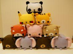 Rectangle Animals Red Panda Plush. $35.00, via Etsy.