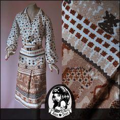 Vintage 1960s  Geometric Shirtfront Dress - http://www.ebay.co.uk/itm/Vintage-1960s-Twiggy-Print-Geometric-Shirtfront-Patterned-Scooter-Wool-Dress-18-/371542810191