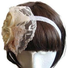 Bridesmaid headband - Franch Headpiece - Flower girl Headband - Shabby chic headband - Sale - Free shipping