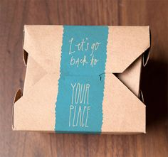 Sexy take out packaging!! Yume Umē takeaway box