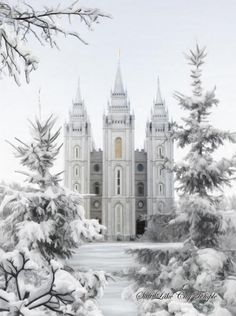 Winter Salt Lake Temple