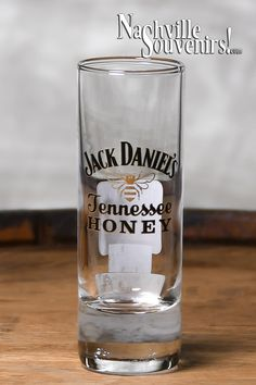 "Officially licensed Jack Daniels Tennessee Honey Shooter. So, you have the Tennessee Honey shot glass but need a little more punch. Here's your answer, this Tennessee Honey Shooter stands 4 1/4"" High and holds 2.2 ounces of your favorite Jack Daniels Tennessee Honey. A beautiful shooter that fits very nicely in the hand.   They make a great gift for the Jack Daniels lover in your life. And the great news is that you get FREE SHIPPING on all US orders over $50! Jack Daniel's Tennessee Whiskey, Tennessee Honey, Jack Daniels Whiskey, Shot Glasses, Cricut Vinyl, Glass Collection, Bourbon, Gin, Royals"