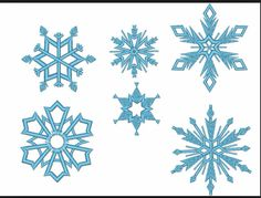 Frozen snowflakes all of them yes