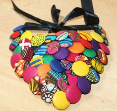 African Print Statement Necklace Ankara Bib by AfrowearHouse ~ $30