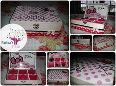 #Caixa #decorada #divisões #hello kitty