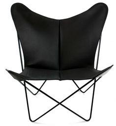 OxDenmarq Papillon Armchair - Black Frame - Leather Black |  https://designonline24.nl