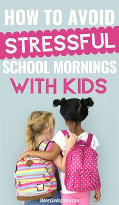 These are such helpful tips on how to make school mornings with kids SO much smoother! Make School, Back To School Hacks, School Tips, Summer School, School Stuff, Strong Willed Child, Packing Clothes, Stress, Money Saving Mom