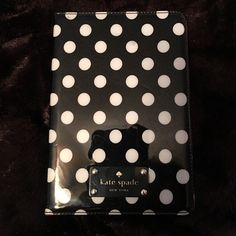 Authentic Kate Spade Pavilion iPad mini 1/2/3 case FLASH SALE!! Take this today, at or near the price listed, and I'll ship it by Monday!!Cute black and white polka dot with fuchsia interior. Reasonably good condition, though not like-new. In one corner on the inside, I put red glitter nail polish over a slight blemish. There's also a couple of indentations and spots on the front. I just updated a pic to show that. I now own an iPad mini 4 and this no longer fits, so I'm selling it. 100%…
