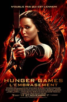 Affiche du film Hunger Games : L'Embrasement avec : Jennifer Lawrence, Liam Hemsworth, Josh Hutcherson, Lenny Kravitz, Philip Seymour Hoffma...