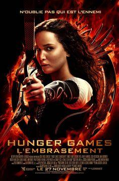 Affiche du film Hunger Games : L'Embrasement avec : Jennifer Lawrence, Liam Hemsworth, Josh Hutcherson, Lenny Kravitz, Philip Seymour Hoffma...